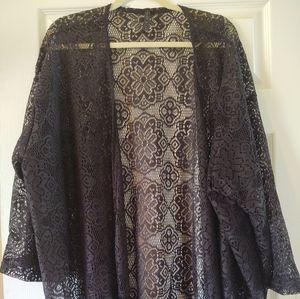 Size 3x lace 3/4 jacket with fringe size 3x